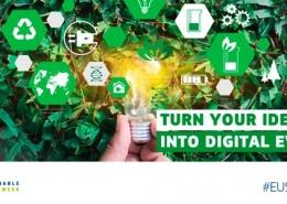 Cartell promocional de la Setmana Europea de l'Energia de la Joventut 2020