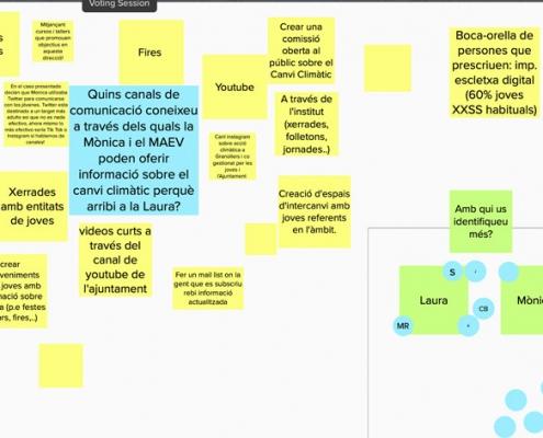 Post its virtuals de l'aplicació Mural