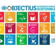 Imatge amb 18 logotips referents a sostenibilitat