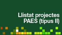 Llistat Projectes PAES II